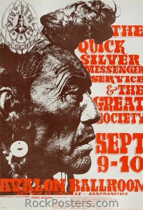 FD25 - Quicksilver Messenger Service Poster - Avalon Ballroom (09-Sep-66) Condition - Excellent