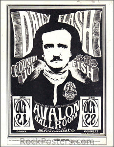 FD31 - Daily Flash Handbill - B/W - Avalon Ballroom (21-Oct-66) Condition - Excellent