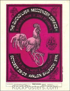 FD32 - Qucksilver Messanger Service Handbill - Avalon Ballroom (28-Oct-66) Condition - Near Mint