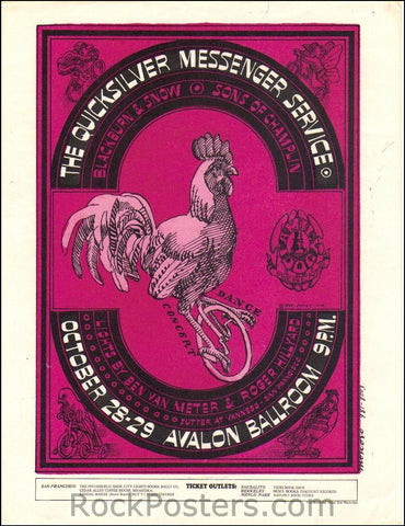 FD32 - Qucksilver Messanger Service Handbill - Avalon Ballroom (28-Oct-66) Condition - Excellent