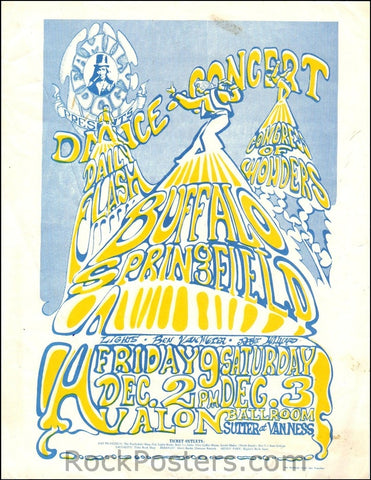FD37 - Buffalo Springfield Handbill - Avalon Ballroom (02-Dec-66) Condition - Very Good