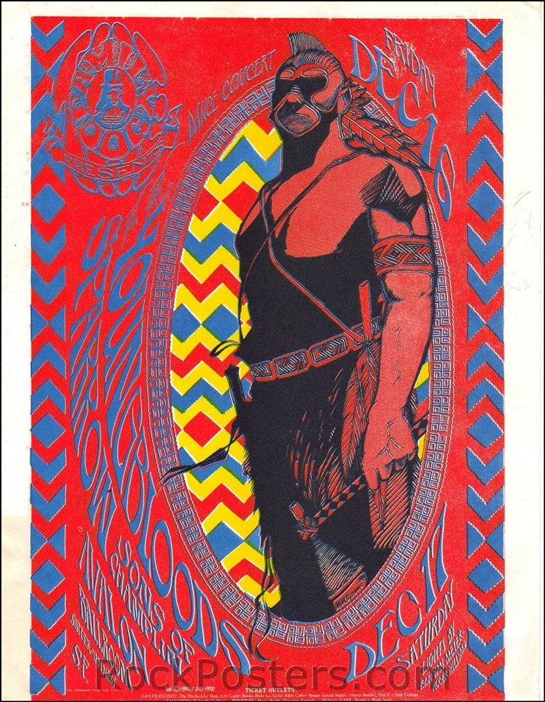 FD39 - The Youngbloods Handbill - Avalon Ballroom (16-Dec-66) Condition - Near Mint