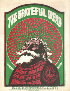 FD40 - The Grateful Dead Handbill - Avalon Ballroom (23&24-Dec-66) Condition - Excellent