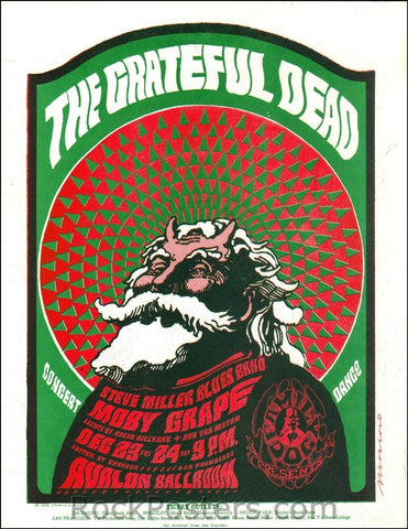 FD40 - The Grateful Dead Handbill - Avalon Ballroom (23-Dec-66) Condition - Very Good