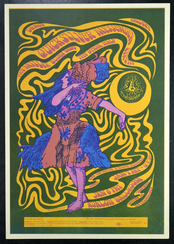 FD42 - Quicksilver Messenger Service Poster (Uncut) - Avalon Ballroom (06-Jan-67) Condition - Excellent