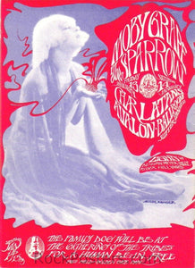FD43 - Moby Grape Postcard - Avalon Ballroom (13-Jan-67) Condition - Near Mint