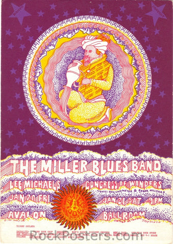 FD44 - Miller Blues Band Postcard - Avalon Ballroom (20-Jan-67) Condition - Near Mint