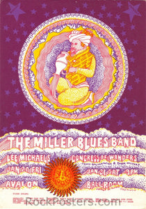 FD44 - Miller Blues Band Postcard - Avalon Ballroom (20-Jan-67) Condition - Excellent