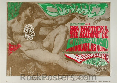 FD52 - Big Brother & The Holding Company Poster - Avalon Ballroom (17-Mar-67) Condition - Excellent