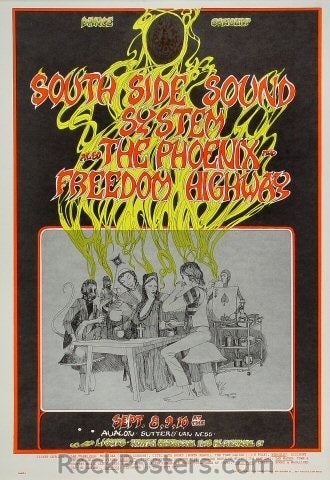 FD80 - South Side Sound System Poster - Avalon Ballroom (08-Sep-67) Condition - Near Mint