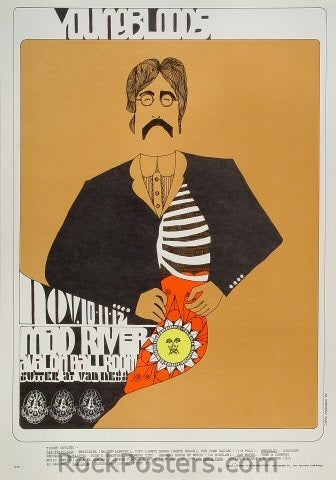 FD91 - The Youngbloods Poster - Avalon Ballroom (10-12-Nov-67) Condition - Near Mint