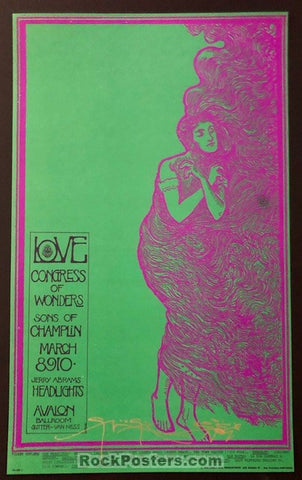 AUCTION - FD-109 - Love Arthur Lee - Stanley Mouse Signed Poster - Avalon Ballroom - Mint
