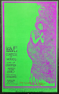 AUCTION - FD-109 - Love -  1968 Poster - Mouse Signed - Avalon Ballroom - Near Mint