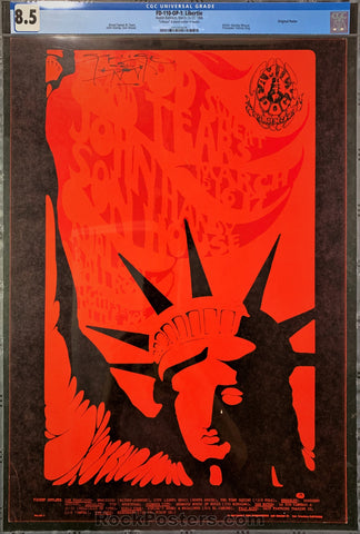 FD-110 - Blood, Sweat, and Tears Poster - Avalon Ballroom - Condition - CGC Graded 8.5