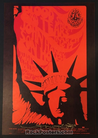 AUCTION - FD-110 - Blood Sweat & Tears - Stanley Mouse Signed 1968 Poster - Avalon Ballroom - Mint
