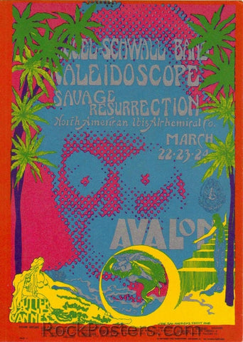 FD111 - Siegal Schwall Postcard - Avalon Ballroom (22-Mar-68) Condition - Mint