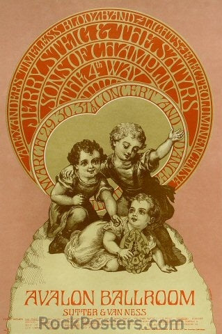 FD112 - Jerry Steig & the Satyrs Poster - Avalon Ballroom (29-Mar-68) Condition - Excellent