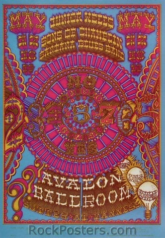 FD119 - Junior Wells Poster - Avalon Ballroom (17-May-68) Condition - Near Mint