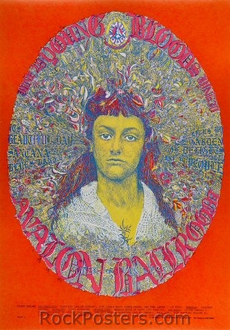 FD125 - The Youngbloods Poster - Avalon Ballroom (28-Jun-68) Condition - Near Mint