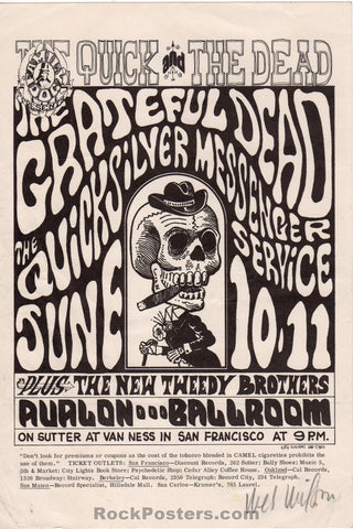 AUCTION - FD 12  - Grateful Dead 1966  Wes Wilson Original Handbill   - Avalon Ballroom  - Condition - Excellent
