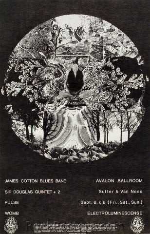 FD136 - James Cotton Blues Band Poster - Avalon Ballroom (06-Sep-68) Condition - Near Mint