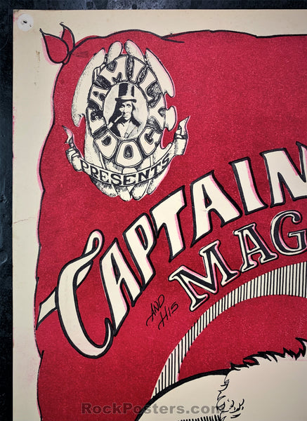 AUCTION - FD-13 - Captain Beefheart Poster - Mouse Signed - Avalon Ballroom - Very Good