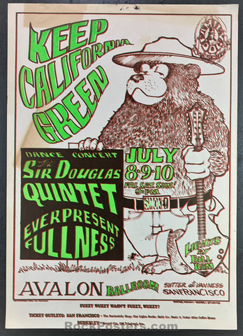 FD16 - Sir Douglas Quintet Poster - Avalon Ballroom - Condition - Rough