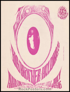 AUCTION - FD17A - Love Big Brother Janis Joplin 1966 Handbill - Avalon Ballroom - Condition - Near Mint