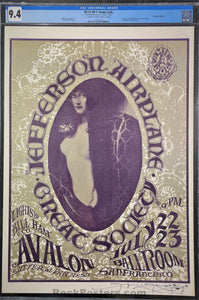 FD-17 - Jefferson Airplane -  Mouse Signed - 1966 Poster - Avalon Ballroom - CGC Graded 9.4