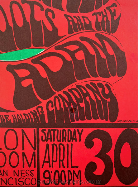 AUCTION - FD6 - SIn Dance Big Brother 1966 Poster - Avalon Ballroom - Condition - Near Mint Minus