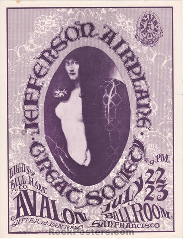 AUCTION - FD17 - Jefferson Airplane 1966 Handbill - Avalon Ballroom - Condition - Near Mint