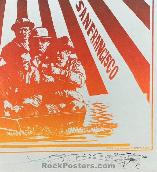 AUCTION - FD20 - Bo Diddley SIGNED Original Five Men in a Boat - Avalon Ballroom - Condition - Near Mint Minus