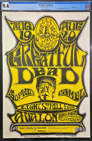 FD-22 - The Grateful Dead - Mouse Signed - 1966 Poster - Avalon Ballroom - CGC Graded 9.4