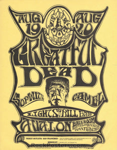 FD22 - The Grateful Dead Handbill - Avalon Ballroom - Condition - Excellent