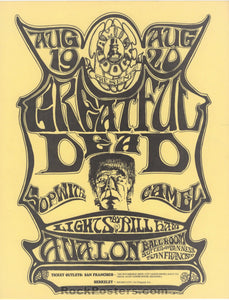 AUCTION - FD22 - Grateful Dead 1966 Handbill - Avalon Ballroom - Condition - Near Mint