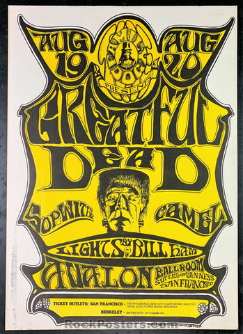 AUCTION - FD22 - Grateful Dead 1966 Poster - Avalon Ballroom - Condition - Near Mint
