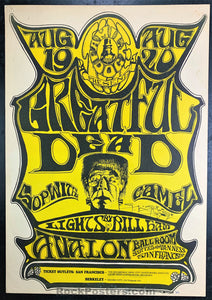 FD22 - The Grateful Dead Poster - Mouse Signed - Avalon Ballroom Condition - Very Good