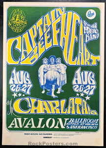 FD23 - Captain Beefheart & His Magic Band Poster - Avalon Ballroom - Condition - Very Good