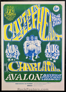 AUCTION - FD23 - Capt. Beefheart Charlatans 1966 Poster - Avalon Ballroom - Condition - Near Mint