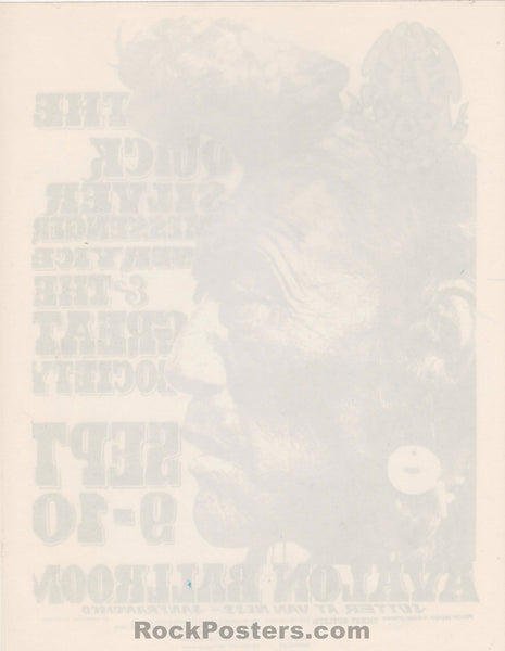AUCTION - FD-25 - Quicksilver Great Society 1966 Handbill - Avalon Ballroom - Mint