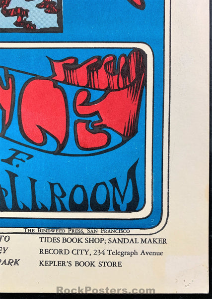 AUCTION - FD26 - Grateful Dead SKELETON & ROSES Original Mouse Kelley 1966 Poster - Avalon Ballroom - Condition - Excellent