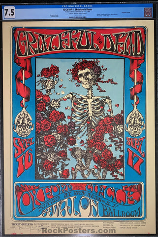 FD-26 - The Grateful Dead - Mouse Signed - 1966 Poster - Avalon Ballroom - CGC Graded 7.5