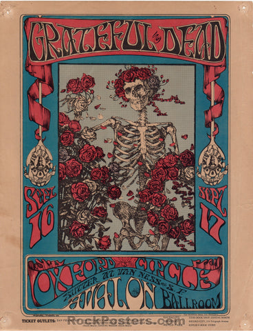 FD26 - The Grateful Dead Handbill  - Avalon Ballroom - Condition - Good