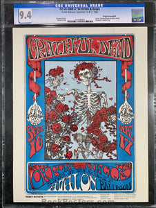 FD-26 - Grateful Dead Handbill - Avalon Ballroom - Condition - CGC Graded 9.4