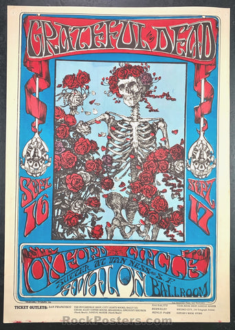 FD26 - The Grateful Dead Poster  Avalon Ballroom - Condition - Excellent