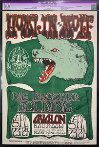 AUCTION - FD27 - Howlin Wolf Mouse Signed Poster - Avalon Ballroom - Condition - CGC Resto Graded 8.0
