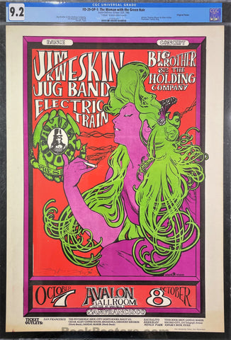 FD-29 - Big Brother Janis Joplin - Mouse Signed - 1966 Poster - Avalon Ballroom - CGC Graded 9.2