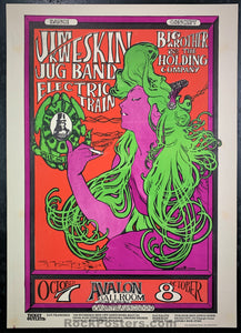 AUCTION - FD-29 - Big Brother Jim Kweskin Poster - Mouse Signed - Avalon Ballroom - Near Mint Minus