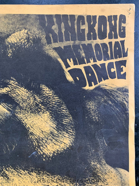 AUCTION - FD-2 - King Kong Memorial 1966 Fillmore Poster - Very Good
