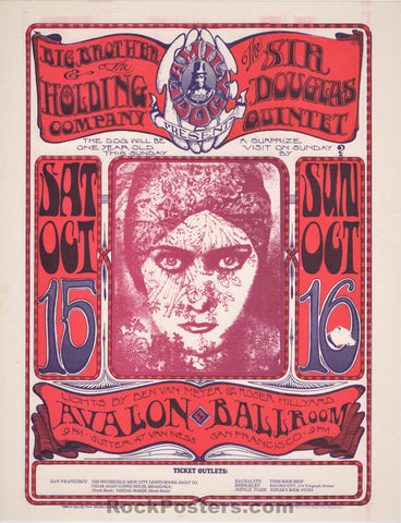 AUCTION - FD30 - Janis Joplin Big Brother 1966 Handbill - Avalon Ballroom - Condition - Near Mint